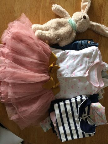 Paka ubran dla dziewczynki 9-12mies
