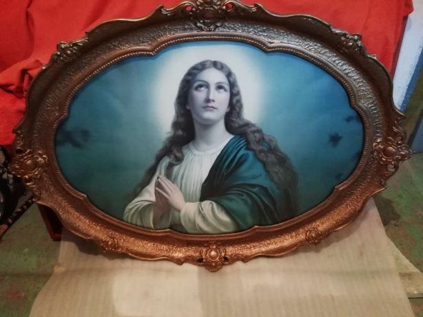 Okazja!! Elegancki Antyk w Przepięknej Oreginalnej, Stylowej Ramie.