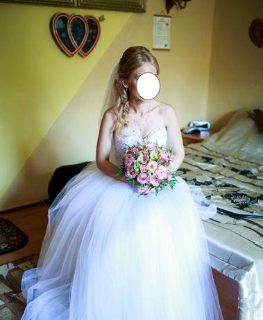 Przepiękna suknia ślubna dla niskiej i szczupłej dziewczyny!!!