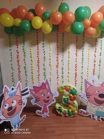 """Ростовые фигуры """"Три кота"""" Декор фотозона на детский день рождения"""