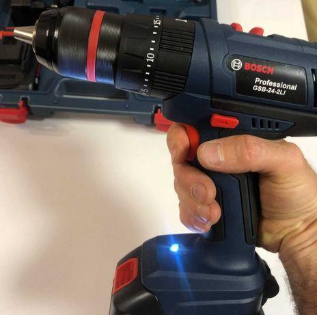 Ударный шуруповерт BOSCH GSB 24V 5A набор инструментов Bosch Бош