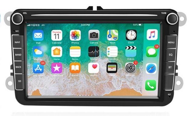 Radio Android 8 cali 2DIN GPS  różne montaż audi vw golf caddy passat