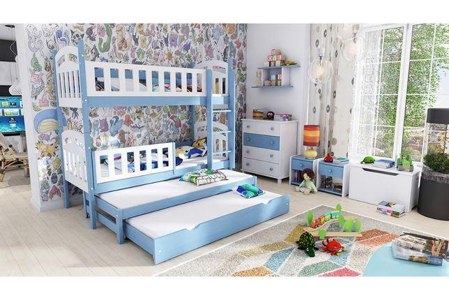 Łóżko piętrowe 4 osobowe Nati, z szufladą z funkcją spania
