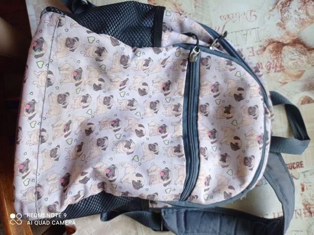 Рюкзак школьный. Мопсы
