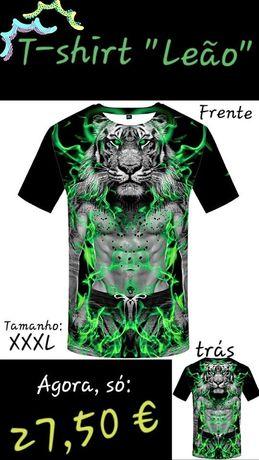 """T-shirt """"Leão"""