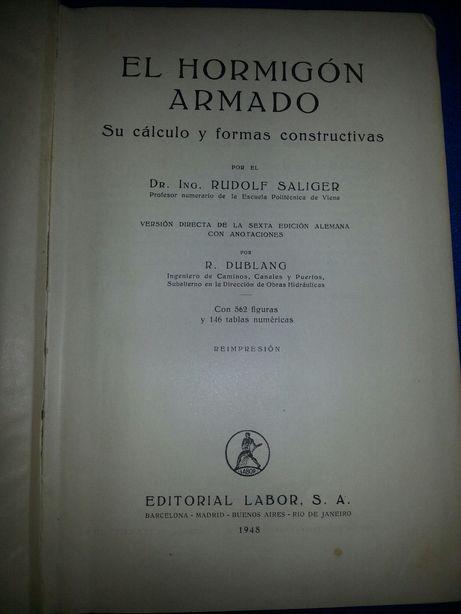 Livro de engenharia sobre cofragem e betão armado