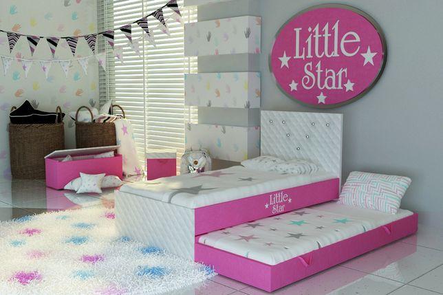 Ekskluzywne łóżeczko dla dziecka,piętrowe, tapicerowane,KRYSZTAŁY.