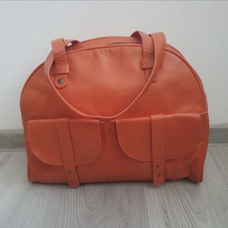 Lekka torebka duża pomarańczowa