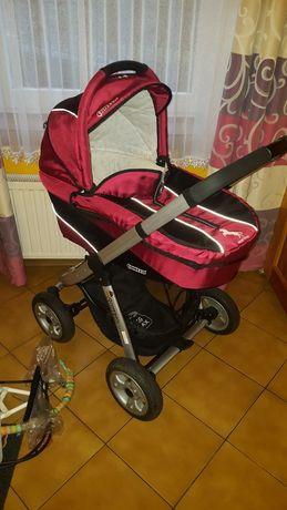 Wózek dziecięcy, gondola + spacerówka, nosidełko