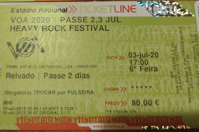 Passe geral VOA Heavy Rock Festival