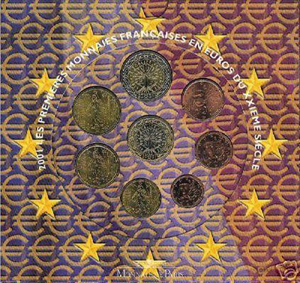 Carteira Oficial EURO SET França 2001 BNC
