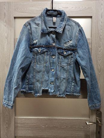 Katana jeansowa vintage Boho