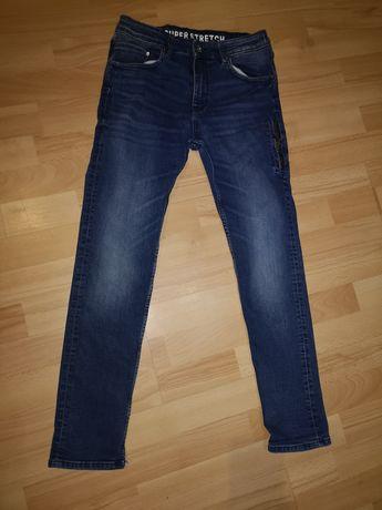 Spodnie jeans 158r chłopiec h&m