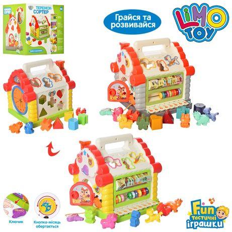 Развивающая игрушка со звуковыми и световыми эффектами Теремок 9196