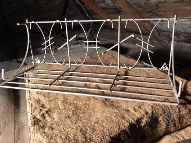 Вешалка настенная никелированная для одежды