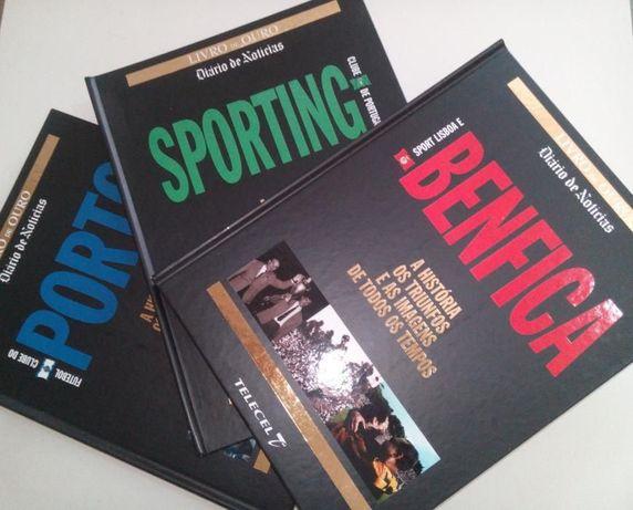 SL Benfica, Sporting CP e FC Porto (3 Livros de capa dura)
