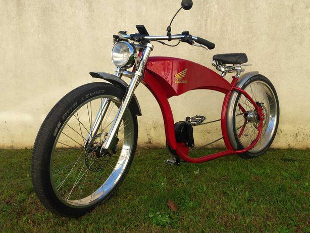 Ebike Cafe Racer, bicicleta elétrica cruiser