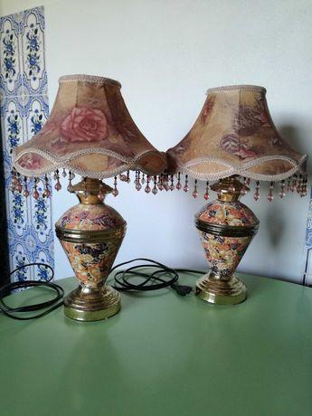 Candeeiros de mesa de cabeceira antigos / vintage - Preço dos 2