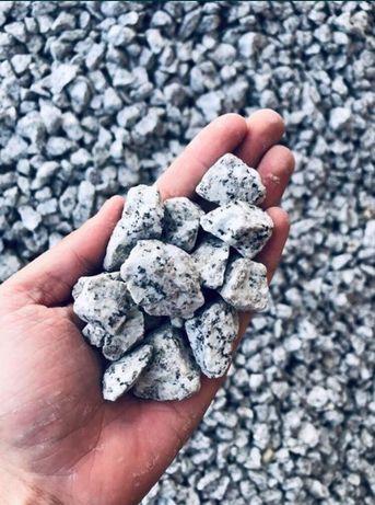 Grys Granitowy Szary DALMATYŃCZYK Kamień w Workach do Ogrodu Żwir Gres