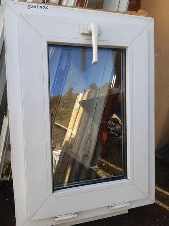 Okno PCV z demontażu białe o wymiarach 520 na 720