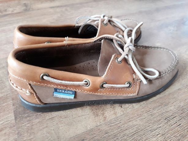 Buty mokasyny żeglarskie damskie SEBAGO r. 37.5 idealne!