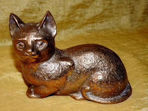 Duża figurka kota z mosiądzu waga 800 g!