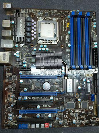 Płyta główna MSI X58 PRO + procesor I7-950 3,06 GHz