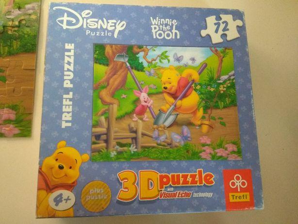 Puzzle 4+, 3D + puzzle, 72 elementy KUBUŚ PUCHATEK