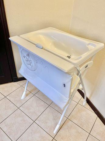 Пеленальный столик/ванночка CAM Volare Молочный