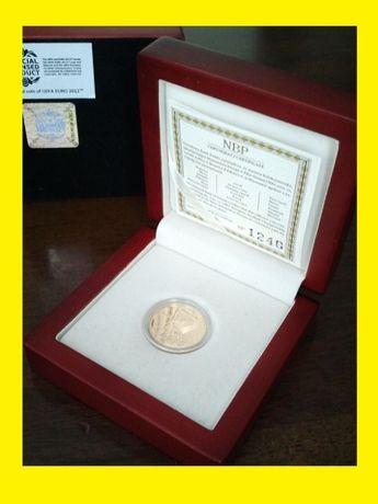 OKAZJA ! Złota moneta 100 zł EURO 2012, 8 gram złoto Au, 100zł !