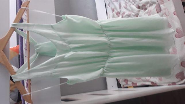 Miętowa sukienka H&M rozmiar 40-L
