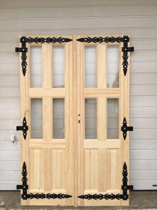 Drzwi sosnowe drewniane góralskie