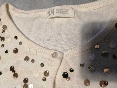 Sweterek cekinowy H&m rozm 134