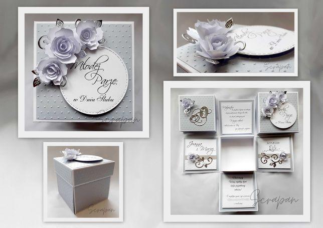 Ślubny exploding box, ślub, wesele, ręcznie robiony, personalizowany