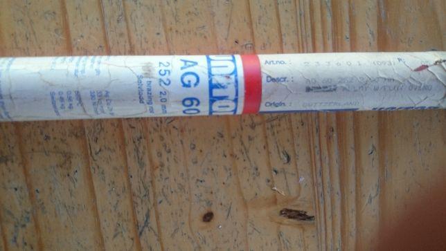 Lut Twardy srebra UNITOR AG-60 252