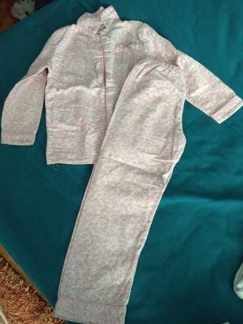 Piżamka dziewczynka flanelka 128cm