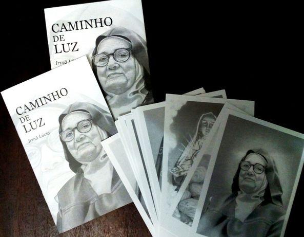 Conjunto 16 postais Ir. Lúcia, exposição Caminho de Luz, Carmelo