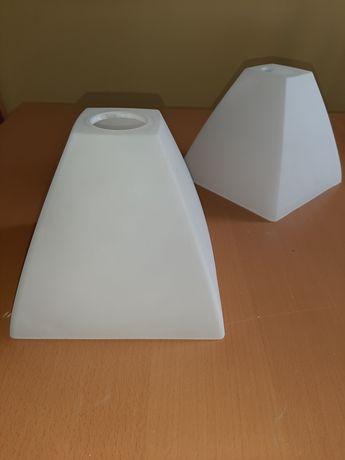 szklany klosz do żyrandola typu piramida - dostępne 2 sztuki.