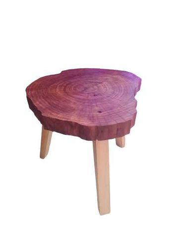 Nowy Stolik kawowy plaster drewna