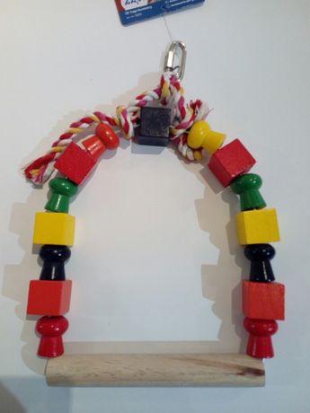 Huśtawki zabawki dla średnich papug nimfa świergotka Aleksandretta