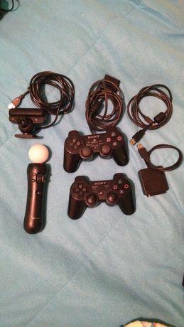 Playstation PS3 Super Slim com 2 comandos+PS Move+Ps Eye+9 jogos