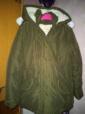 Курточка еврозима, хаки куртка 6-8 лет зеленая на холодную осень, вес