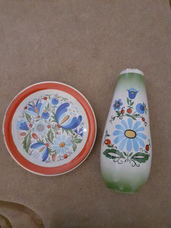 Wazon kaszubski Lubiana + talerz
