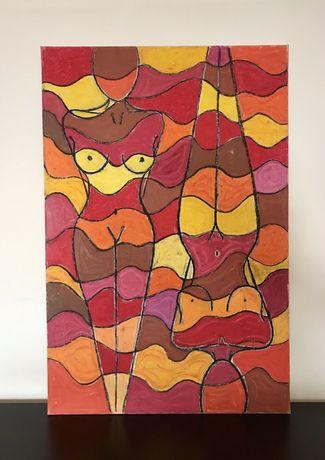"""Quadro / tela / arte - """"Alegria"""" Pastel de óleo sobre tela - original"""
