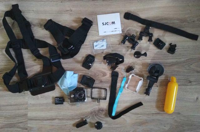 Kamerka Sportowa SJCAM sj4000 + Akcesoria do kamery i 2 Bateria