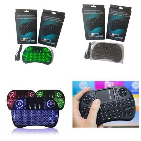 Беспроводная клавиатура (с Led-подсветк) с тачпадом для Smart TV, tv-b