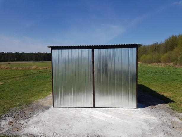 Garaż blaszany 3x5, producent, schowki,schowek na budowę