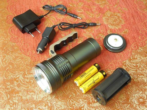 Для дома дачи комплект Дальнобойный Поисковый Фонарь на 2 аккумулятора