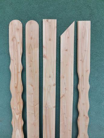 Sztachety drewniane MODRZEW