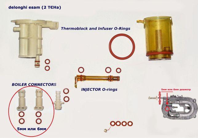 Уплотнители манжеты резинки для кофемашин Saeco Delonghi Siemens Bosch